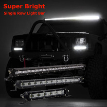 LED Light Bar 7/13/20/25/32/38inch Straight Slim Work Offroad Driving Lamp 4X4 FOR SUV Truck 60W 90W 120W 180W