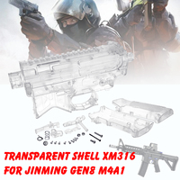 DIY Transparent Shell Receiver For JinMing Gen8 M4A1 Gel BallToy Accessories