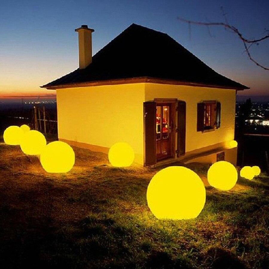 7 krāsu RGB LED peldošās maģiskās bumbiņas led apgaismojuma - Nakts gaismas - Foto 4