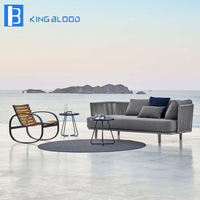 modern outdoor furniture garden grey round rope sofa set