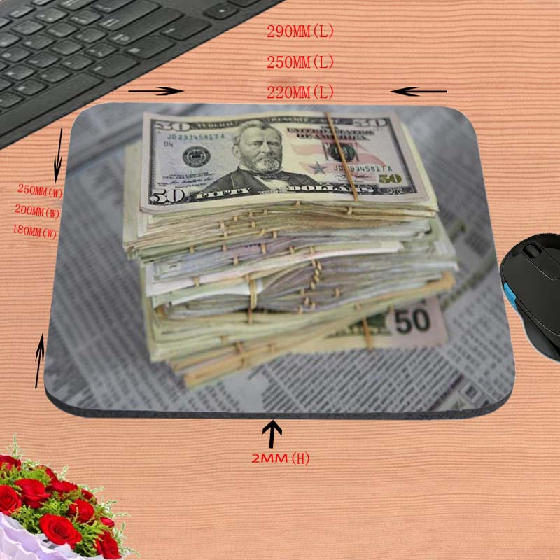 A lot of money 2017 Custom Hot Sell Print Anti-slip New Arrival Customized Mouse Pad Computer PC Nice Gaming Mousemat As Gift