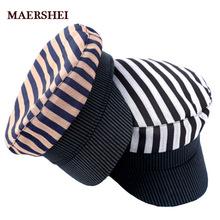 MAERSHEI de algodón de moda sombrero militar para los hombres y las mujeres  niñas niños gorra 7008bded482