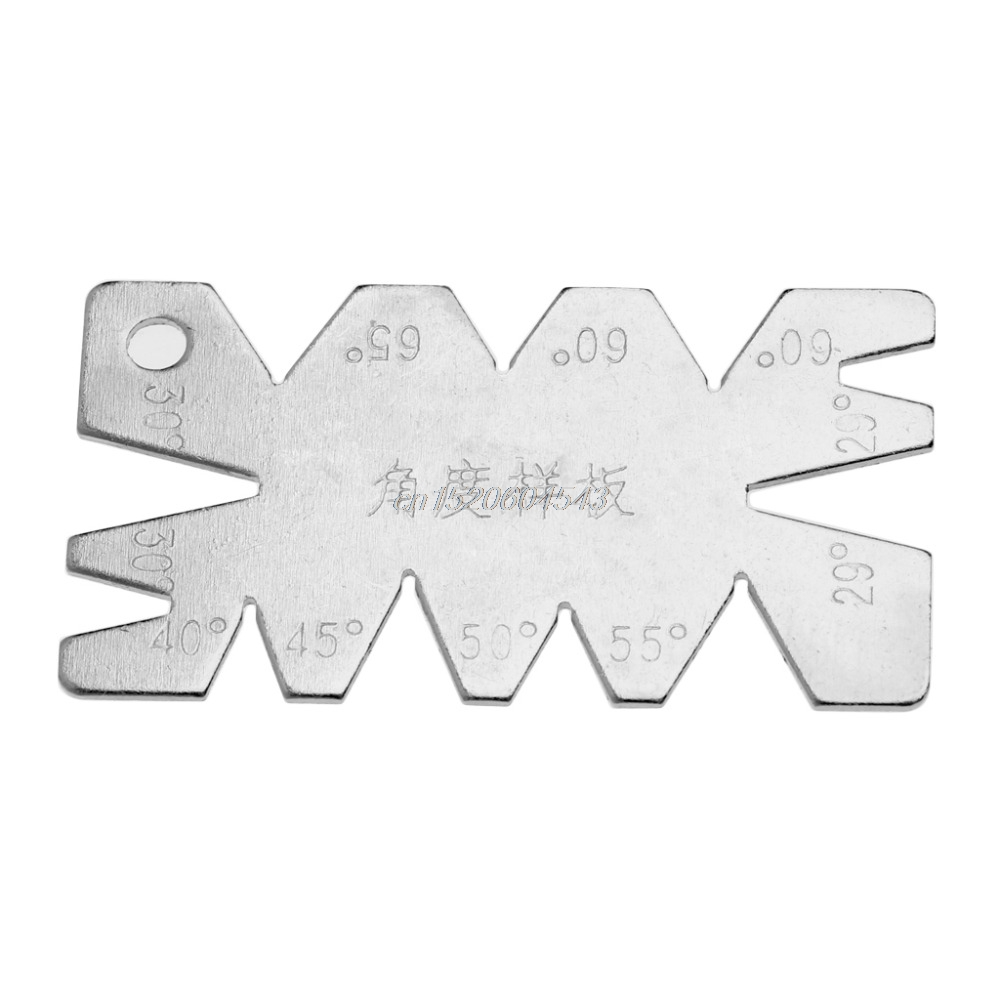 Screw Thread Cutting Angle Gage Gauge Measuring Model Tool Stainless Steel Measture Tools R08 Whosale&DropShip