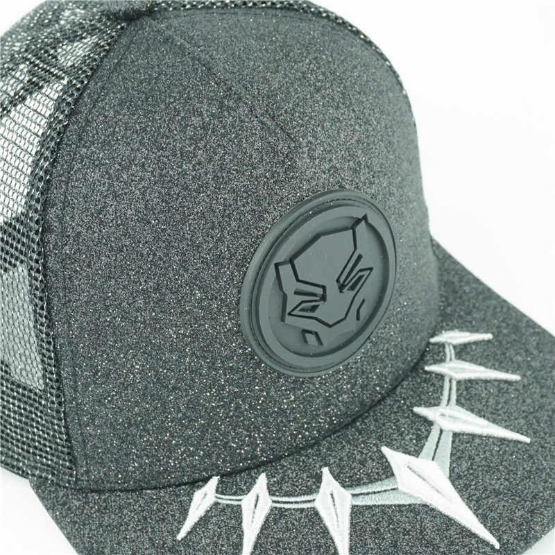 7ce1c24d11a ... Avengers Black Panther Hat 3D LOGO Baseball Snapback Caps Adjustable  Hip Hop Hats For Adult Men ...