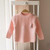 Filles Cardigan Pull Pull Épais Chaud Polaire Doublure Enfants Cardigan Solide Rose Couleur Tricoté Enfants Filles Cardigan