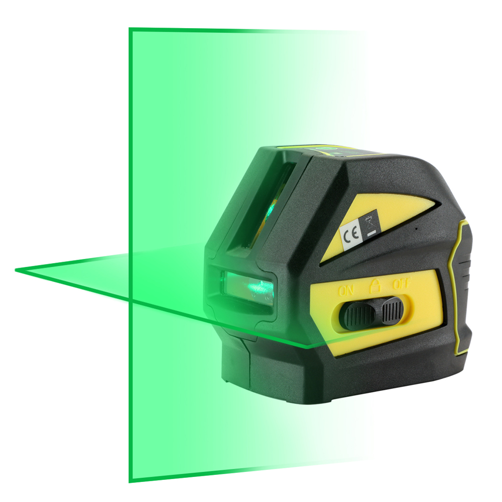 Firecore EK118G LD 2 Lines Green Laser Level ( Horizontal And Vertical )Cross Laser Line (Self Leveling Within 4 Degrees)