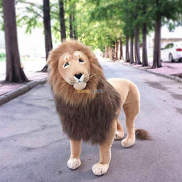 Fancytrader 43 / 110cm Plush Biggest Soft Stuffed Simulation Standing The Lion King Toy, Free Shipping FT50177