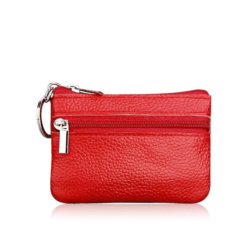 Women Wallet Genuine Leather Coin Purse Travel Organizer 11 Colors Women Storage