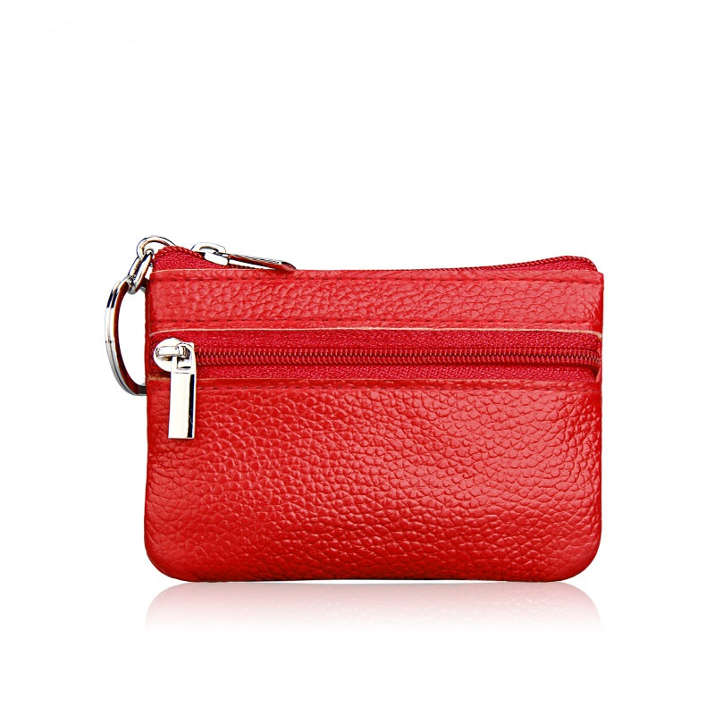 Women Wallet Genuine Leather Coin Purse Travel Organizer 11 Colors Women Storage Bag Key Holder Day Clutch Card Holders DC36 metal key holder organizer 28 ring set