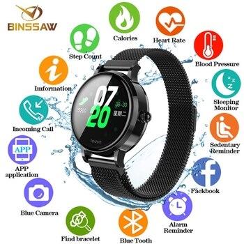 BINSSAW 2019 NIEUWE Smart Armband Band Met Hartslagmeter ECG Bloeddruk IP68 Fitness Tracker Wrisatband Smart Horloge + DOOS