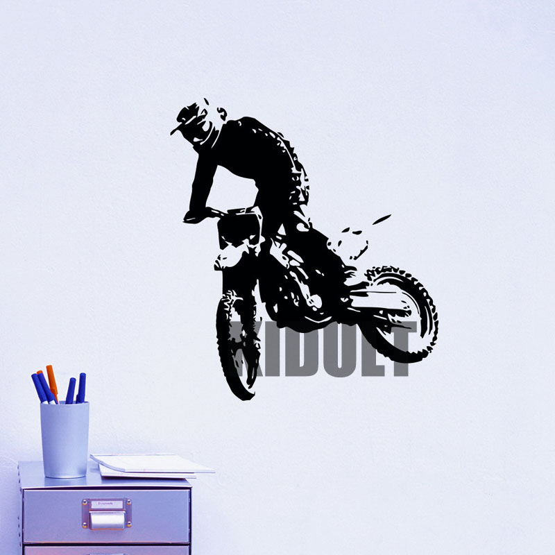 Motorcycle Wall Stickers Outdoor Performance Sports Club font b Home b font Interior Bedroom Flat Wall