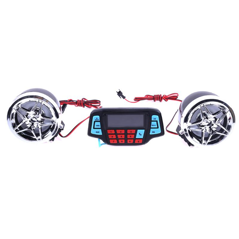 Motorcycle Alarm Audio Sound System Stereo Speakers FM Radio MP3 Music Player Scooter ATV Remote Control Alarm Speaker Scooter motoqueen 35w 4 motor vehicle speakers dirt bike mp3 player fm radio atv motorcycle audio mp3 system