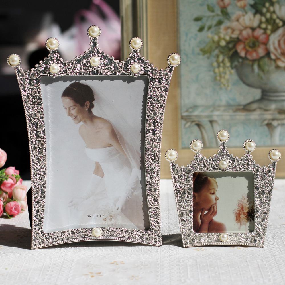 crown shaped photo frame wedding picture framein frame