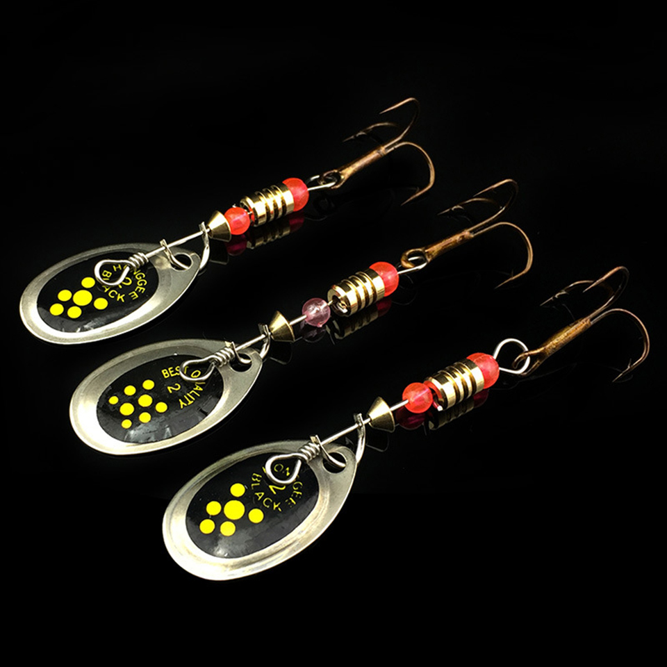 WALK FISH 3PCS 6cm 2.2g Metal Carp Fishing Lure Vibration Fishing Hard Bait Pesca Spinner Spoon with Hook Fishing Tackle goture 96pcs fishing lure kit minnow popper spinner jig heads offset worms hook swivels metal spoon with fishing tackle box