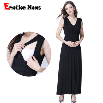 Emotion Moms Long Party Evening Dresses Maternity Clothes Breastfeeding pregnancy for Pregnant Women