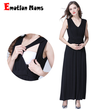 Emotion Moms Long Party Evening Dresses Maternity Clothes Nursing Breastfeeding pregnancy for Pregnant Women