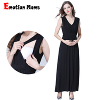 Emotion Moms Long Party Evening Dresses Maternity Clothes Maternity Nursing Breastfeeding pregnancy Dresses for Pregnant Women