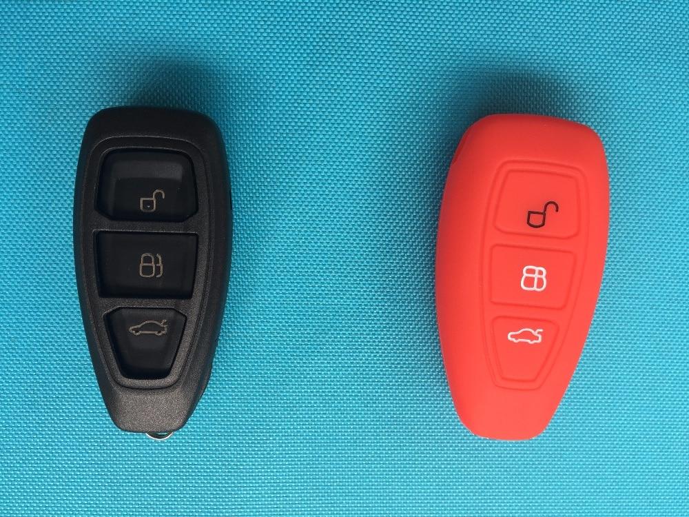 1 шт. 3 кнопки силиконовый чехол для ключей от машины чехол для Ford Focus 3 MK3 Mondeo Fiesta Kuga Escape Ecosport 2013 Smart Car style