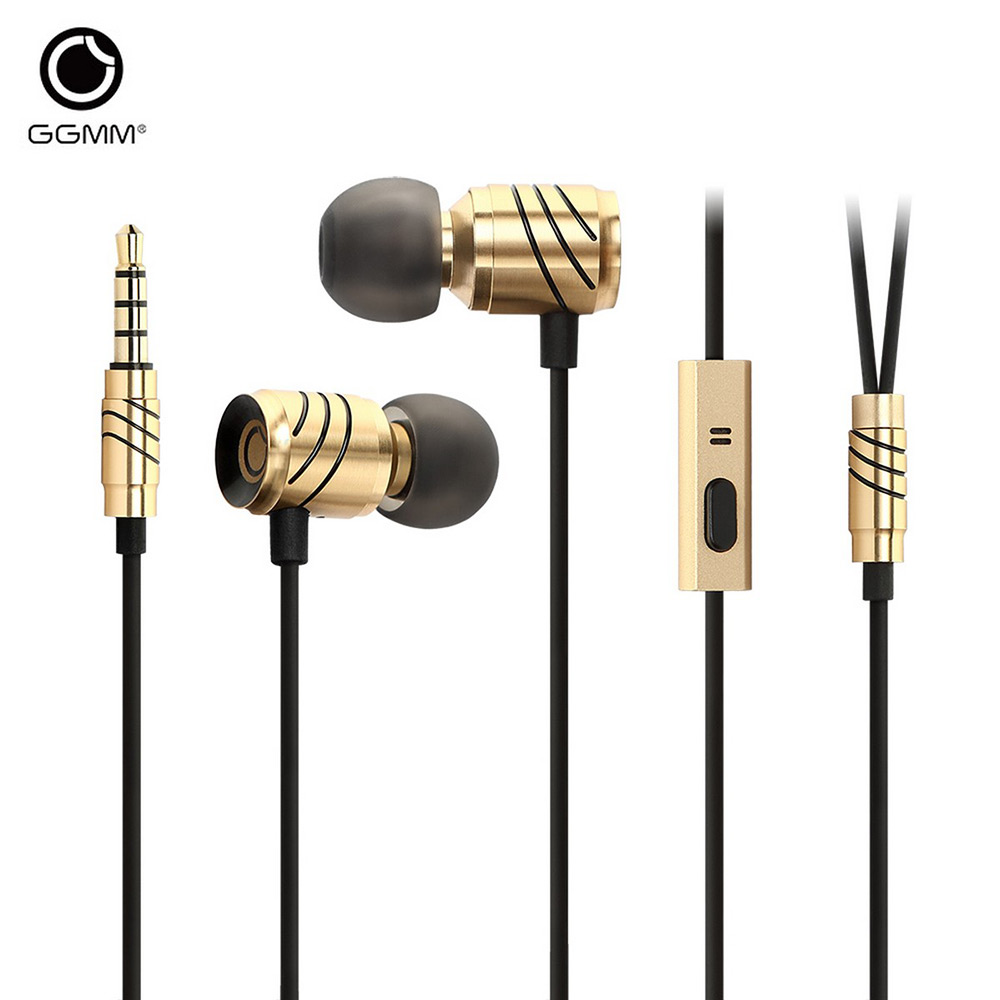 GGMM C800 Earphone 3.5MM Plug Wired Stereo HiFi Music Earphones For Answering Phone,HiFi,For iPod,Computer ggmm alauda earphones with microphone in ear metal earphones music headets wired earphone hands free sports earphone for phone