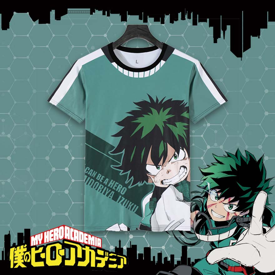 Anime Boku no Hero Academia T-shirt Cartoon My Hero Academia Cotton T shirt Cosplay Tops Boys Girls Casual Printing Tees