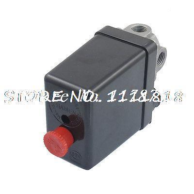 AC 240V 20A 175PSI 12 Bar 4 Port Air Compressor Pressure Switch Control Valve