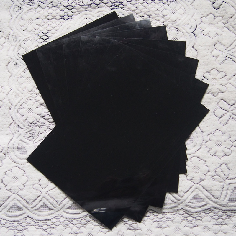 (A4*8 Pcs) Black Color Heat Press Vinyl High Quality PU Vinyl Heat Transfer Vinyl Cuttable PU Film For T-shirts Vinyl Plotter