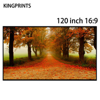 120 inch 16:9 Projector Screens Free Edge Black Crystal Absorbs Ambient Light ALR Screen For Xgimi 3D 4K Projector