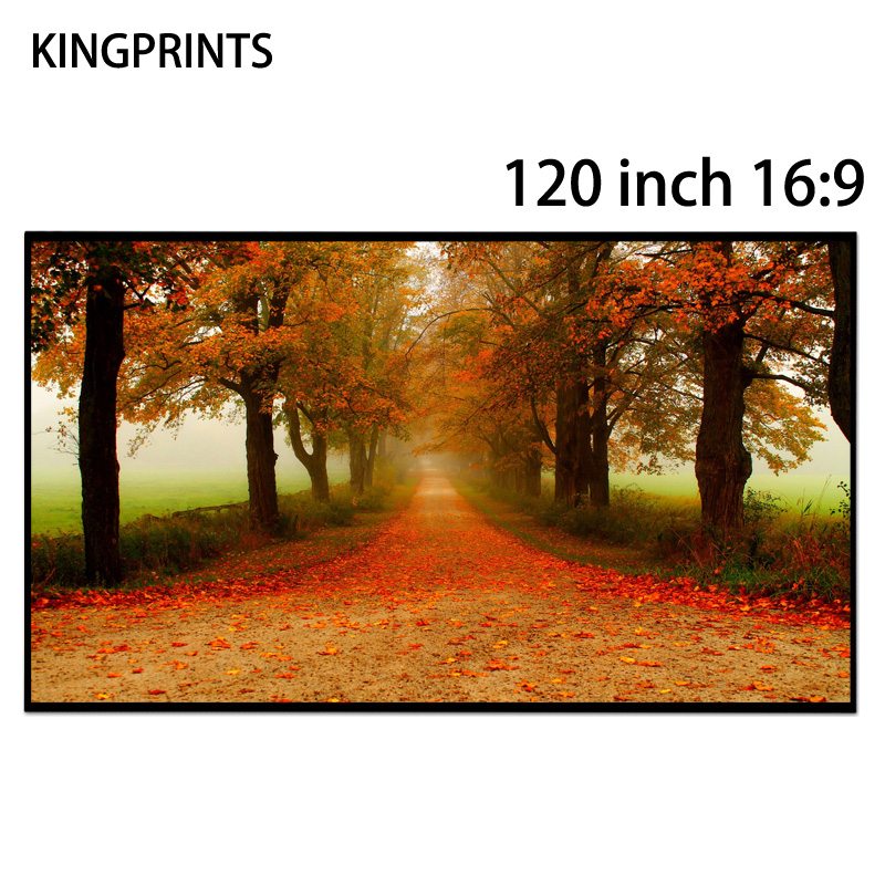120-inch 16:9 Schermi di Proiezione Bordo Libero di Cristallo Nero Assorbe La Luce Ambientale ALR Schermo Per Proiettore Xgimi 3D 4 K
