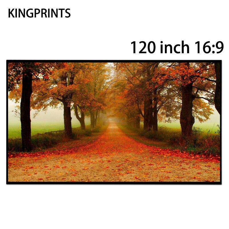 120 pouces 16:9 écrans de projecteur bord libre cristal noir absorbe la lumière ambiante ALR écran pour Xgimi 3D 4 K projecteur