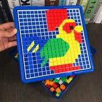 3D Puzzles Toys For Children Composite Picture Puzzle 750 pcs Creative Mosaic Nail Kit Educational Toys Button Art Kids Toy