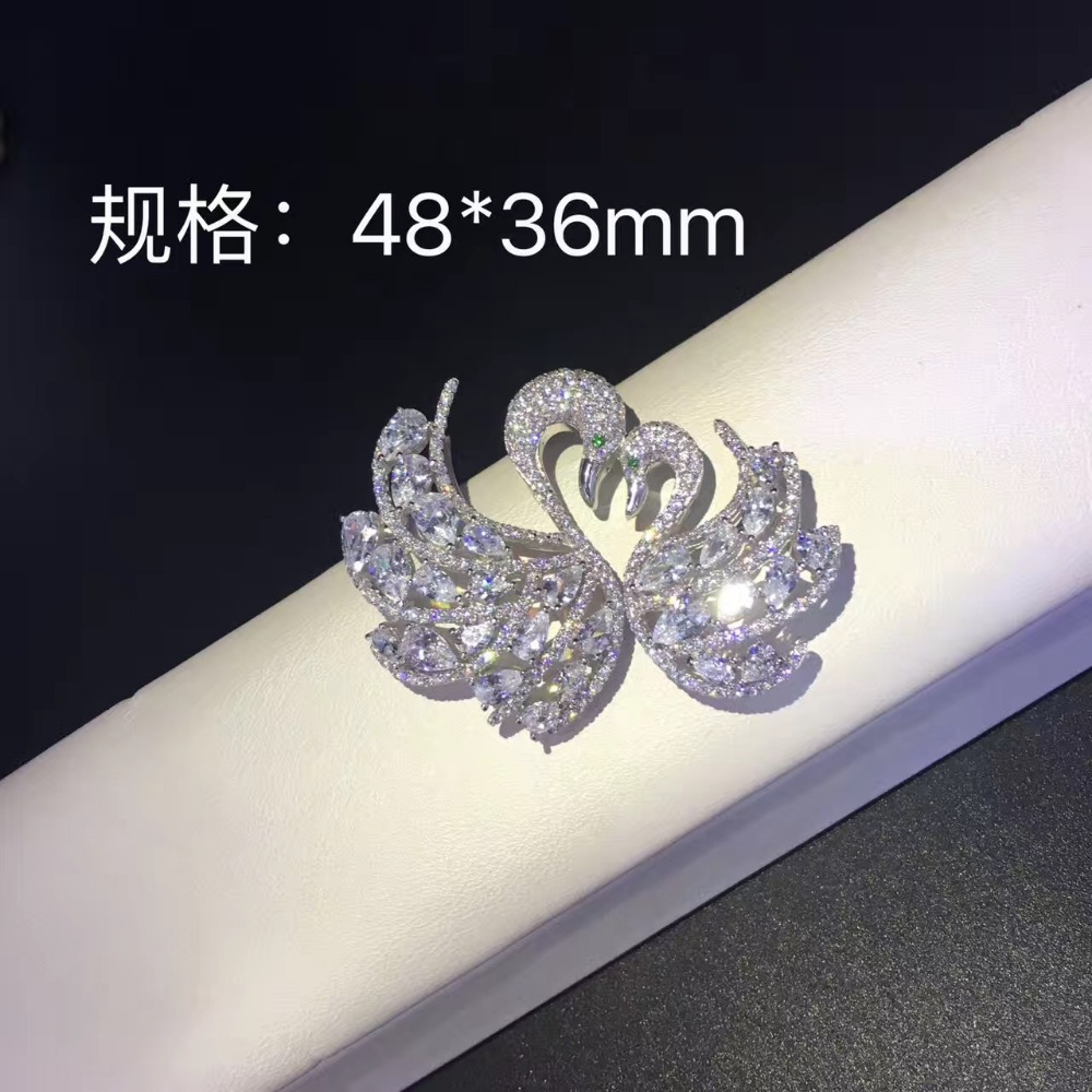 925 argent sterling avec zircon cubique cygne connecteurs pour collier bijoux résultats et composants bricolage simple ou multi couches