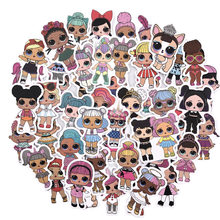 50pcs LOL stickers personality lol Doll stickers children's PVC graffiti stickers suitcase car boot guitar waterproof(China)