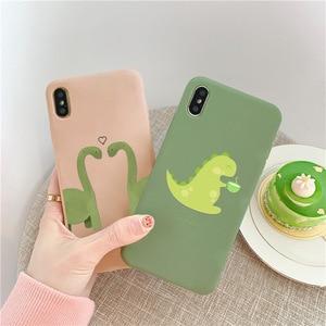 Милые Чехлы GYKZ с динозавром для пар, для iPhone XS MAX XR X 7 8 6 6s Plus, мягкий силиконовый чехол для телефона iPhone XR, чехол с рисунком животного