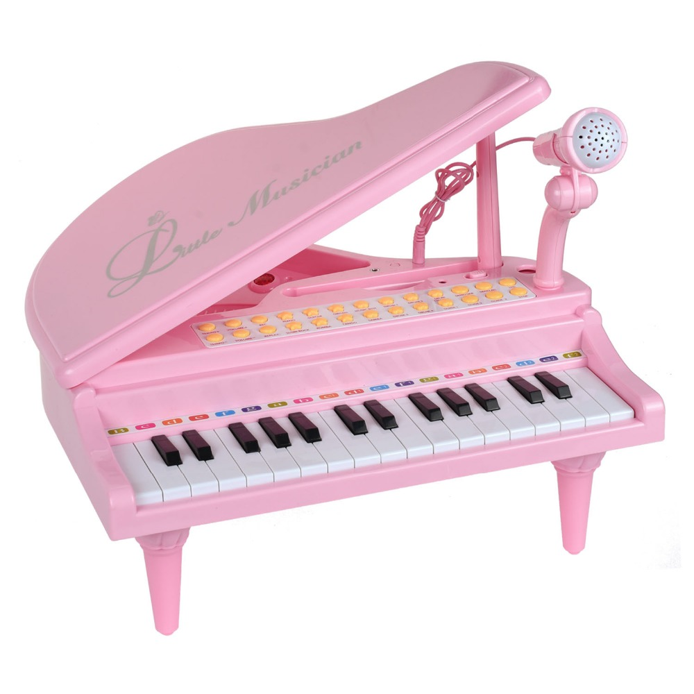 BAOLI 31 Keys Electronic Piano Baby Toys Keyboard Musical Instrument With Microphone Early Educational Toys Gift for Children цена