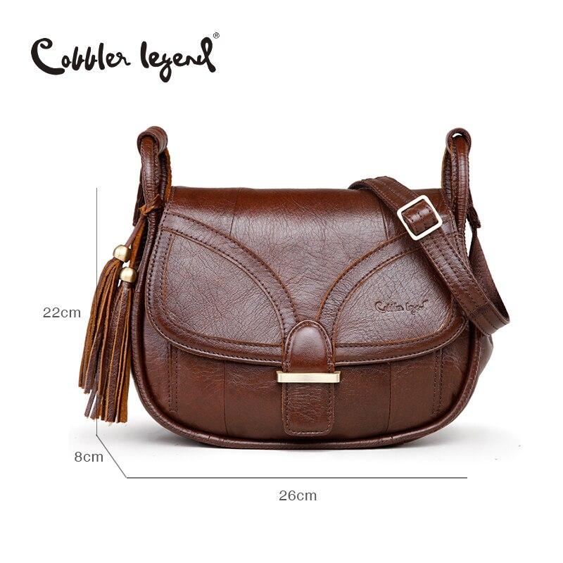 Cobbler Legend marque Designer 2019 femmes en cuir véritable Vintage unique sac à bandoulière femmes sacs à bandoulière sacs à main pour dames - 4