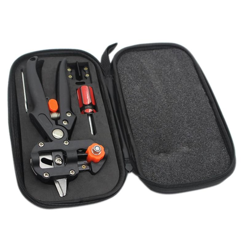 Greffage Machine avec 2 Lames Arbre Greffage Outils Sécateurs Ciseaux Vaccination De Coupe Sécateur Outil Kit Set-M25