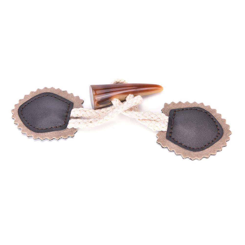 1ペアブラックコーヒーoxホーントグル縫製ボタン用コートジャケット黒茶色diy衣服アクセサリー