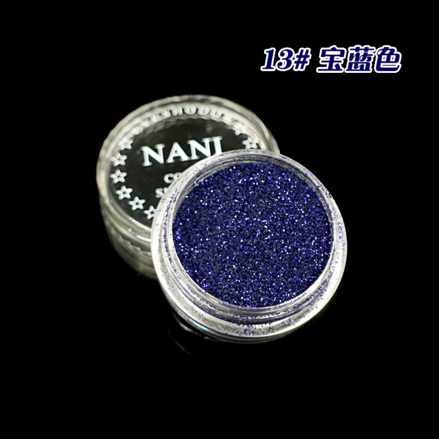 1 Box Royal Blau 23 Farbe Glitter Lidschatten Pulver Pigment Mineral Spangle Glatte Make-up Kosmetische Set Wasserdicht Langlebige