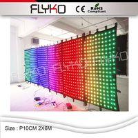 FLYKO CE ROHS halloween decorar parede do fundo da parede À Prova de Fogo full color P10cm 2x6 m|full color|wall color|wall background -
