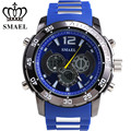 SMAEL Fashion Notwendige Sport Neue Band Analog Chronograph Stoppuhr For Men Present Gift Silica Gel Band two Display Mode 1063