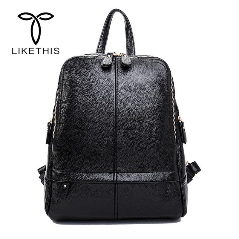 Women Backpack Fashion PU Leather Preppy Style Solid Color Backpack Girls School Bags Zipper Leather Backpack Large Capacity Bag bolish pu leather women female backpack preppy style girls school bag larger size travel rucksack black color ladies daypack