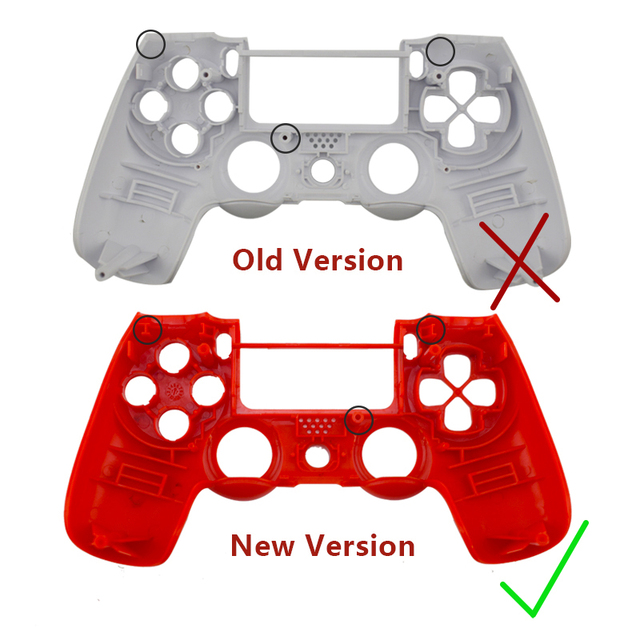 Replacement Full shell and buttons mod kit For jds 040 DualShock 4 PlayStation 4 PS4 Pro Slim Controller  Housing Cover Case