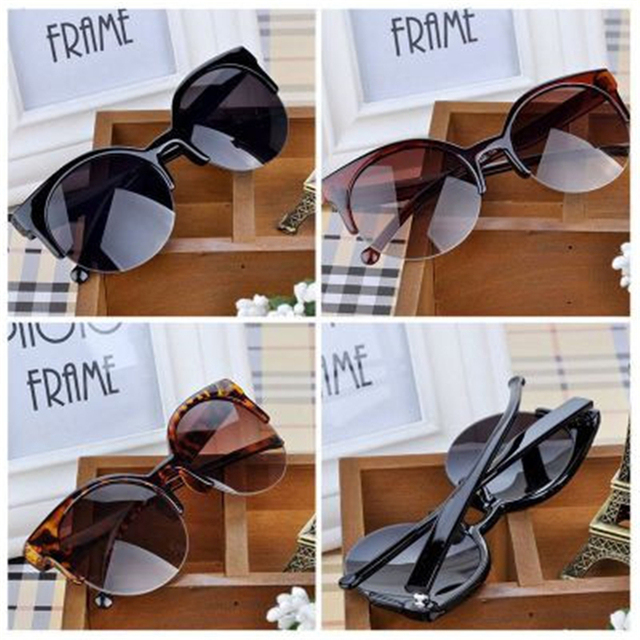 293158a3c5347 2018 NEW WOMEN BRAND Designer Vintage Sunglasses Woman Semi-Endless Retro  Sunglasses Round Oculos De