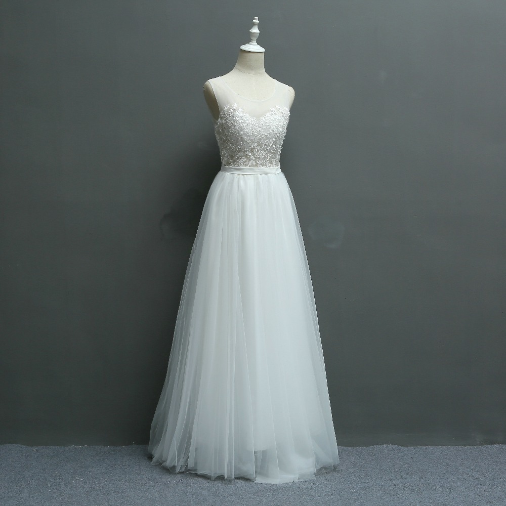 New Arrival Brief Fresh Exquisite Embroidery Lace Seaside Wedding Bridesmaid Dress/Wedding Photograph Dress 580 4