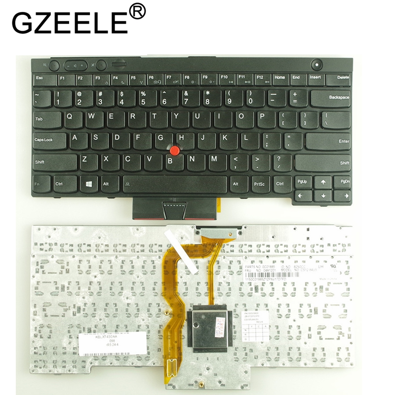 GZEELE New US Keyboard For Lenovo T430 L430 W530 T430I T430S X230I X230 T530I US English Keyboard BLACK