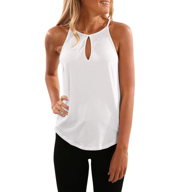 98ac41f850956 Sexy Women Vest Tank Top Keyhole Sleeveless T-Shirt Irregular Hem Summer  Camis Summer Tops