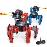 RC Nerf Trận Chiến Đấu Sinh Vật TerraDrone Điều Khiển Từ Xa Spider Robot với 12 Phi Tiêu 2.4 Gam Boys Mẫu Đồ Chơi Quà Tặng