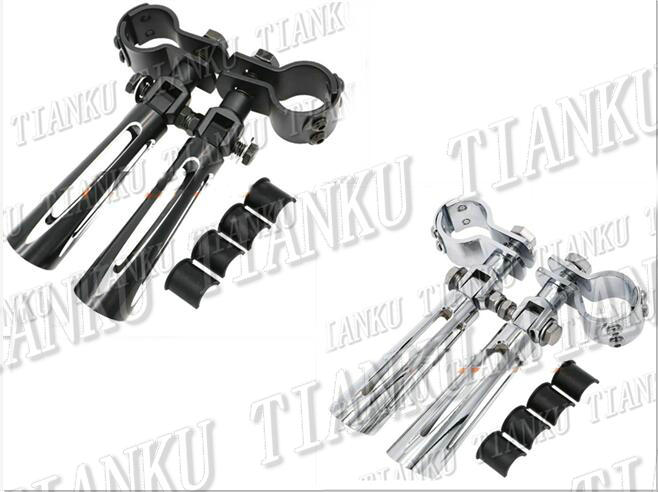 New Motorcycle Guard Crash Bar Footrest Foot Pegs For