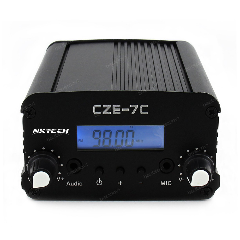 Nktech Cez 7c 1w 7w 76108mhz Backlight Lcdstereo Pll Fm Transmitter Circuit Radio Broadcast Station Ac Adapter Antenna Audiocable In Tool Parts From Tools On
