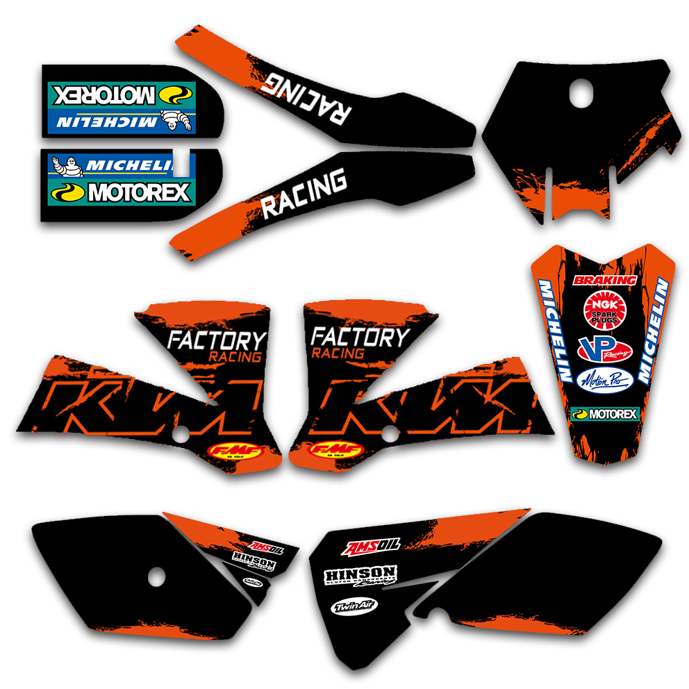 Motorcycle Team Graphic Decal Sticker Deco For KTM SX85 SX 85 2003 2004 2005 2006 2007 2008 2009 2010 2011 2012